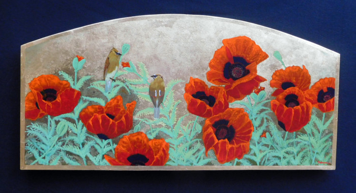Gilded Poppies 48x24